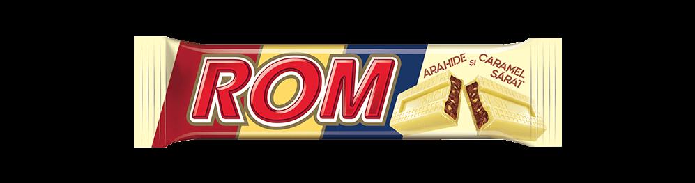 Autentic Rom Arahide si Caramel Sărat, baton cu crema rom, arahide si caramel sărat, 44g