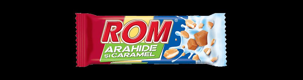 Autentic Rom Arahide si Caramel, baton cu crema rom, arahide si caramel, 29g