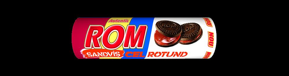 Autentic Rom sanvis cel rotund, biscuiti cacao cu crema rom, 140g