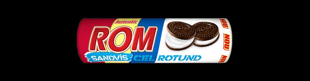 Autentic Rom sanvis cel rotund, biscuiti cacao cu crema frisca si rom, 140g