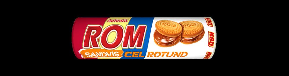 Autentic Rom sanvis cel rotund, biscuiti vanilie cu crema rom, 140g