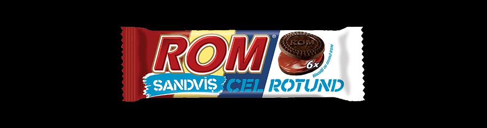 Autentic Rom sanvis cel rotund, biscuiti cu crema rom, 60g