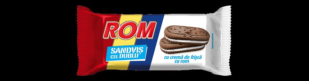 Autentic Rom sanvis cel dublu, biscuiti cacao cu crema de frisca si rom, 36g