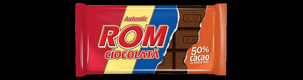 Autentic Rom ciocolata amaruie cu 50% cacao si crema rom, 88g