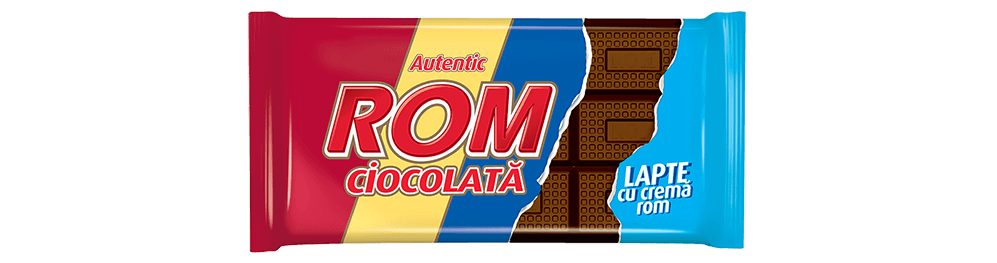 Autentic Rom ciocolata lapte si crema rom, 88g